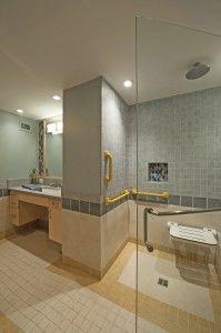 Bathroom Renovations For Elderly | Shower With Horizontal And Vertical Grab  Bars | Bathroom | Pinterest | Photos, Massachusetts And Bathroom