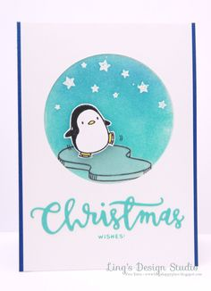 Penguin Christmas Wishes by Vera W. Yates for the Simon Says Stamp Wednesday challenge (Stars)