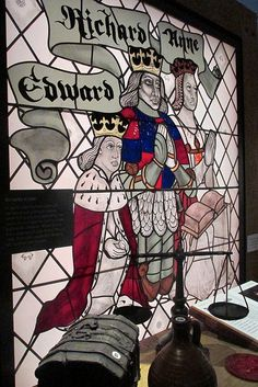 King Richard, Queen Anne, and Prince Edward, Richard III Visitors Centere, Leicester, England,