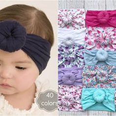 Braided Baby Headband Sailor Knot Bow Knotted Infant   Etsy Newborn Baby Girl Headbands, Baby Turban Headband, Baby Hair Bows, Nylon Flowers, Floral Headbands, Baby Grows, Head Wraps, One Size Fits All, Toddler Girl