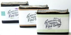 Handmade Activated Charcoal Face Soap Recipe with Lavender, Tea Tree and Algae - Free Printable Cigar Band Soap Labels - Homemade Soap Packaging Ideas