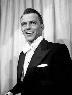 Frank Sinatra, great singer, actor. He looks great in a Tux