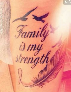 What does strength tattoo mean? We have strength tattoo ideas, designs, symbolism and we explain the meaning behind the tattoo. Best Tattoos For Women, Tattoo Designs For Women, Trendy Tattoos, Small Tattoos, Tattoos For Guys, Tattoo Women, Female Tattoos Small, Family Tattoo Designs, Feather Tattoos
