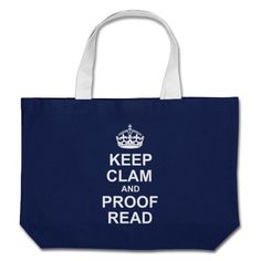 Keep Calm and Proofread Dark Tote Tote Bag