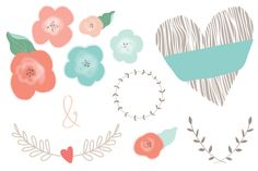 Wedding Collection Vector by Angie Makes on Creative Market