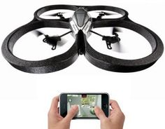 Parrot AR Drone.  We sell these at my store....I want one!  Hover craft with 2 cameras to record as it takes flight...super awesome