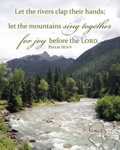 8x10 Mountains and river with Bible verse by PicturesofFaith, $25.00