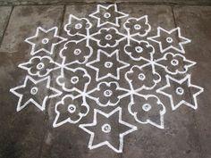 Rangoli designs/Kolam: S.No. 21 :-15-8 Pulli kolam