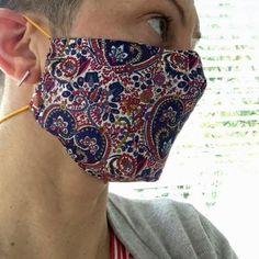 Free Face Mask Pattern and Tutorial - updated! – Dhurata Davies Easy Face Masks, Diy Face Mask, Sewing Patterns Free, Free Pattern, Pattern Sewing, Fashion Face Mask, Diy Mask, Sewing Techniques, Sewing Hacks