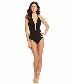 Need this for Cancun!  Gianni Bini Fringed Monokini OnePiece #Dillards