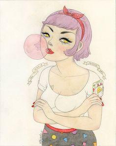 Love her work. She won't follow you - 8x10 glossy print. $22.00, via Etsy.