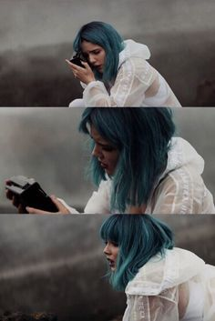 This is beautiful Blue Hair, K Idols, Girl Crushes, Beauty Women, Divas, Hair Beauty, Celebs, Beautiful, Queens