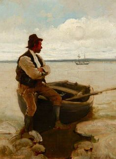 A Ferryman at Flushing - Stanhope Alexander Forbes