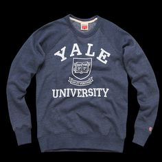 A piece of apparel from Yale University. University Outfit, Vintage Sweaters, Sweater Jacket, Cute Shirts, School Outfits, Fashion Outfits, Woman Outfits, Cute Outfits, Graphic Sweatshirt