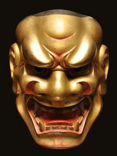 小獅子. Kojishi . Noh mask