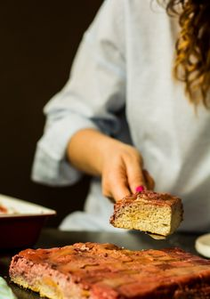 Ciasto z rabarbarem (bez glutenu, cukru, paleo) - paleolife