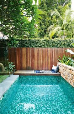 37 Amazing Small Pool Design Ideas On a Budget. Does not imply you can not delight at a pool of your life, just because you have got a backyard. Therefore, if you are eager to create swimming pool on . Small Swimming Pools, Small Pools, Swimming Pools Backyard, Swimming Pool Designs, Small Pool Ideas, Indoor Swimming, Small Yards With Pools, Inground Pool Designs, Swimming Pool Tiles