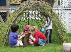 Outdoor Waldorf idea…want to make on from my preschool class!