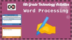 8 technology lessons for 6th Grade students using the computer via Google Slides. The content consists of word processing activities in the form of writing assignments where students apply the mastered typing skills from a previous bundle. The types of writing displayed are based on the Common Core Standards for the grade-level. You can give students access to their own copies through their Google accounts with the Google Classroom platform. Technology Lessons, Teaching Technology, 6th Grade Activities, Typing Skills, 6th Grade Ela, Writing Assignments, Informational Writing, Common Core Standards, Google Classroom