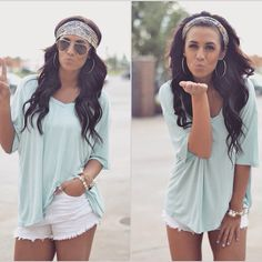 summer outfit Shorts are too short but love everything else