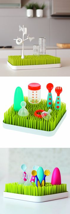 Grass counter top drying rack // I love this! #product_design