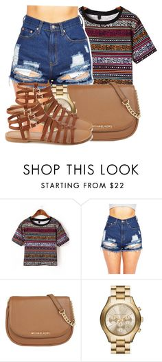 """Eh."" by bria-myell ❤ liked on Polyvore featuring MICHAEL Michael Kors and Forever 21"