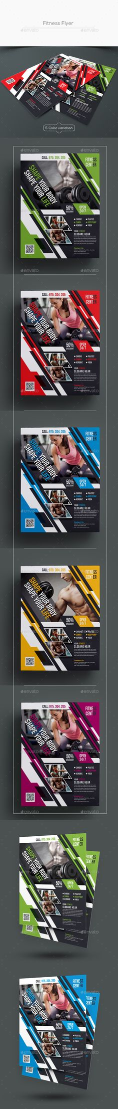 #Fitness #Flyer - Sports Events Download here:  https://graphicriver.net/item/fitness-flyer/19208951?ref=alena994
