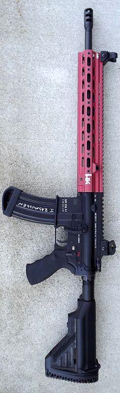 HK Pro Shooting Team member, John Rasmussen's MR556 with custom Geissele HK416 SMR-Super Modular Rail.