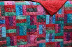 Handmade Quilt  Macaron Bali Pop Batik by Hoffman by SewingWilde, $160.00