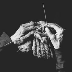 """Beautiful hands of a skilled knitter.""""Like My Mums'...""""She is An Artist"""""""