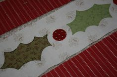 A Little Bit Biased: Holly Berry Table Topper Tutorial
