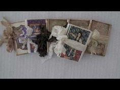 """These little books are some mini journals I made using Jen Of Eves """"Mini Art Journals"""" tutorial. Her tutorial is very easy to understand and was a great vide..."""