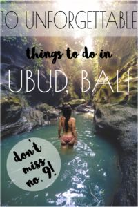 Ashtanga Yoga Girl | 10 unforgettable things to do in Ubud (don't miss number 9!) | http://ashtangayogagirl.com