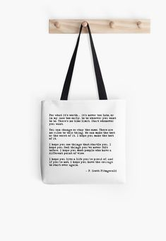 For what it's worth - F Scott Fitzgerald quote Tote Bag Love funny quotes and inspirational quotes about the sea & ocean? ArtyQuote Canvas Art & Apparel was made for you!Check out our canvas art, prints & apparel in store, click that link ! F Scott Fitzgerald, Scott Fitzgerald Citations, Wisdom Quotes, Quotes To Live By, Love Quotes, Bag Quotes, Bible Quotes, Positive Quotes, Motivational Quotes