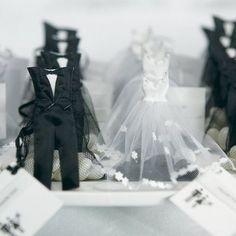 Le pochon à dragées costume et robe de mariée
