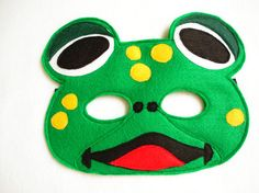 Children's Frog Felt Mask What Does The Fox Say by magicalattic, $12.50