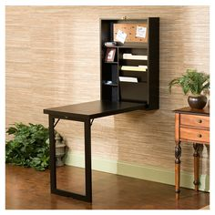 Space saving pull down writing desk (or table) Flexible writing station