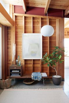 Home Design, Interior Design Meaning, Modern Home Interior Design, Luxury Home Decor, Mid-century Interior, Interior Decorating, Interior Ideas, Nelson Bubble Lamp, George Nelson