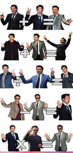 """Tony Stark Has so many """"show off"""" symbols u can do math with them!"""