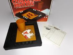 Vintage Challenge Yahtzee Game, Multi Player, Unused, Complete, Dice Game, Family Game Night, Milton Bradley by JandDsAtticTreasures on Etsy