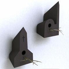 These bird houses designed by Frederik Roijé are called Holy Homes and were commissioned by TuttoBene