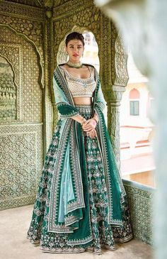 Excited to share this item from my shop: Green silk wedding reception lehenga choli Indian custom made to measure blouse lengha skirt dupatta saree set Choli Designs, Lehenga Designs, Lehnga Dress, Lehenga Choli, Sabyasachi, Indian Wedding Outfits, Indian Outfits, Indian Wedding Lehenga, Bridal Lehenga Collection