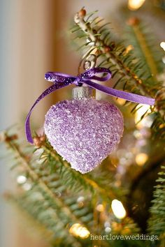 Are you dreaming of a purple Christmas? Well, then your dream is about to come true. Purple looks breathtaking and elegant when used in home décor. It fills the home with an aristocratic atmosphere, something which very few color palettes Purple Christmas Decorations, Christmas Colors, All Things Christmas, Christmas Time, Christmas Bulbs, Holiday Decor, Coastal Christmas, Christmas Ideas, Merry Christmas