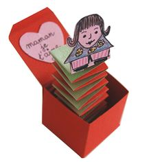 """Bricolage-boite jouet """"jack in the box"""" avec message je t'aime maman- Idéecadeau- - Tête à modeler"""