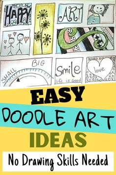 An easy to follow tutorial on how to make easy doodle art ideas. You can make these simple doodling ideas on cards, planners, bullet journals and more. Check out the step by step doodle drawing video! Doodle Art For Beginners, Easy Doodle Art, Doodle Drawings, Easy Drawings, Art Journal Pages, Art Journaling, Art Journal Tutorial, Art Journal Techniques, Simple Doodles