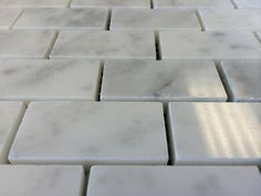 "Discount Glass Tile Store - Bianco Carrara 1"" x 2"" Marble Mosaic Polished Finish $7.97 sq.ft, $7.97 (http://www.discountglasstilestore.com/bianco-carrara-1-x-2-marble-mosaic-polished-finish-7-97-sq-ft/)"