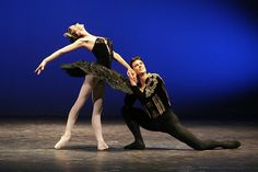 Polina Semionova black swan odile and Roberto Bolle