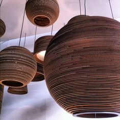 cardboard suspension lamps from graypants