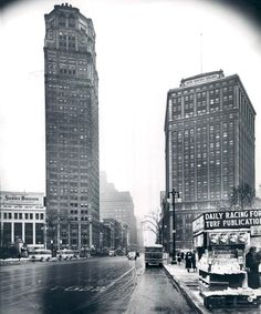 The Broderick and the David Whitney Building about 1940.  PHOTO FROM THE DETROIT NEWS ARCHIVES.
