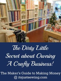 If you've ever dreamed of opening a small, craft based business - this is a must read!
